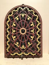 Vintage Ornate Arch Top Cast Iron Heat Register Grille Architectural Salvage