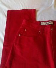 Paris Blues Women's Red Flare Jeans Sz 7