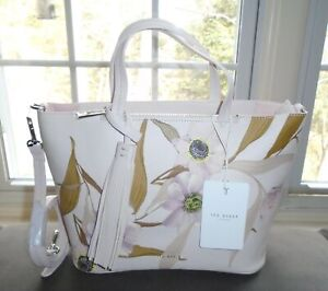 Ted Baker London Leather Shopper Bag Purse Vernaa Cabana Light Pink NWT $169