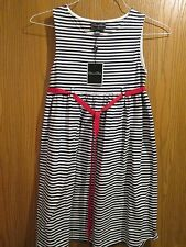 Oscar de la Renta Navy White Sleeveless Cotton Dress Size 14Y