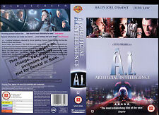 A.I Artificial Intelligence - Jude Law - Video Promo Sample Sleeve/Cover# 14411