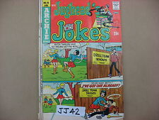 JJ42 Jughead's Jokes Vintage Comic Book Jan 1975 #42 USED Archie Series