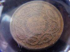 TUNISIA 5 franchi 1946 Protettorato Francese