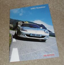 Toyota MR2 Roadster Brochure 2002 - 1.8 VVTI