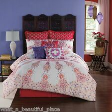6-Pc Anthology Melody Twin Xl Comforter Set Girl's Dorm Bedding Purple Pink
