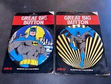 Batman Great Big Button Lot Of 2