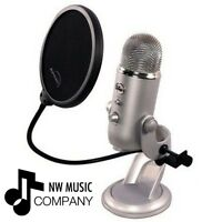 Blue Microphones Yeti Microphone Pop Filter by Auphonix (Desktop, USB) BRAND NEW
