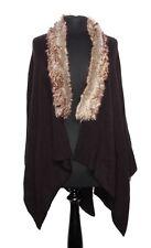 Black / Animal Fake Fur Ladies Shawl / Neck Collar Winter Body Warmer (S68)