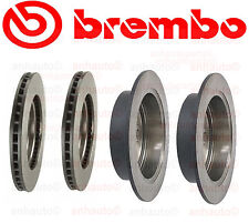 Lexus RX330 7/04-06 Two Front + Two Rear Disc Brake Rotors Kit Brembo OEM