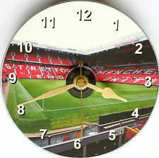 Novelty cd clock with Manchester United Old Trafford on clock face
