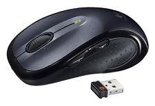 Logitech M510 Wireless Laser Computer Mouse Black Tilt Wheel Back Buttons