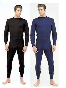 Lightweight Performance Long John Thermal Underwear - Black, Navy Blue / S - 2XL