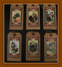 THANKSGIVING PRIMITIVE HANG TAGS - 12 AND SCENTED - NEW