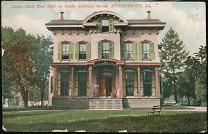 MYERSTOWN PA Albright College East Hall Ladies Dormitory Antique Postcard Vtg