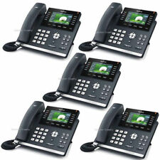 Lot of 5 Yealink SIP-T46G Elegant Gigabit Color IP 6-Line PoE IP PBX VOIP Phone