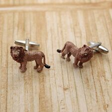 Lion Cufflinks Animal King + Box & Cleaner