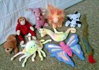 Ty Beanie Babies Lot of 9 Neon Goochy Flitter Slither 2001 McDonald's Australia