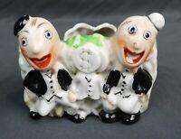 Vintage Mid Century Figural Porcelain Character Planter Bankers Made in Japan