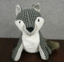 """NWT Elements Decorative Plush Weighted Door Stopper - Fox - Gray- 10""""X 9.5"""" X 8"""""""