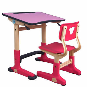 Children's adjustable Desk and Chair Set_ for kids 2-7 year old
