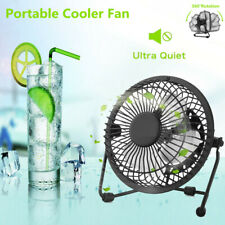Portable Metal Desk Table Mini Fan Personal Usb Small Air Cooler Quiet Office Us