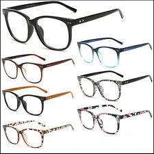 Clear Lens Glasses Vintage Nerd Geek Fashion Unisex New Look Large Eyewear Lot