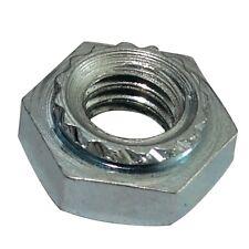 10x écrou héxagonal à sertir M4 7mm H3.2mm acier zingué pour tôle 1mm+