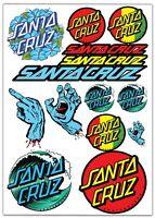 Set 14 PVC Vinyle Autocollants Santa Cruz Skateboard Stickers Voiture Moto Auto