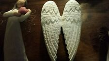 NEW~White Cast Iron ANGEL WINGS Wall Hanging Decor FRENCH Country