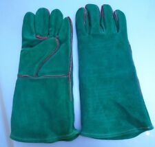 NEW Leather BBQ Rotisserie Fireplace Woodstove Gloves SIZE   Large 1 Pr.