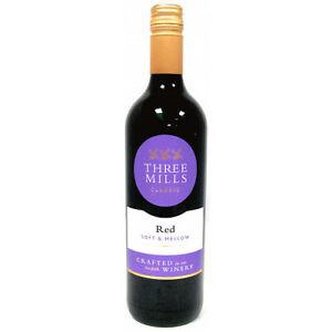 Three Mills Classic Red Wine - 6x75cl