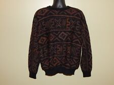 Peruvian Connection 100% Alpaca Sweater sz L Multi Colored Aztec EUC lknw