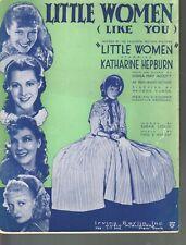 Little Women 1934 Katherine Hepburn Little Women Sheet Music