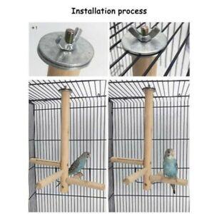 Wooden Parrot Bird Cage Perch Stand Parakeet Budgie Climbing Hanging Birds Toy