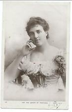 ROYALTY - QUEEN of PORTUGAL 1908 Rotary Real Photo Postcard