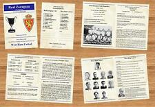 Real Zaragoza v West Ham United 28 Apr 1965 ECWC Semi Final 2nd Leg PLEASE READ