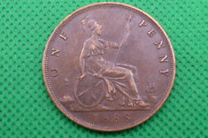 VICTORIA 1888 ONE PENNY COIN  (4249)