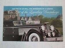 Franklin Mint Brochure 1940 Duesenberg J Town Car