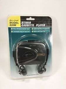 NEW Lenoxx Sound 820M Stereo Cassette Player w/Stereo Headphones Belt Clip  (10)