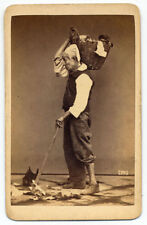 CDV Naples Costume Man Traditional work Original photo Giorgio Sommer 1870 S1098