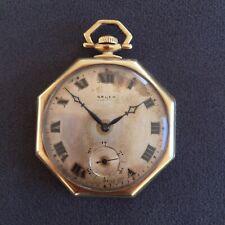 SOLID 14k GOLD 1917 Gruen Octathin 12S 17J V4 Man's Pocket Watch—HEAVY—25g+ Gold