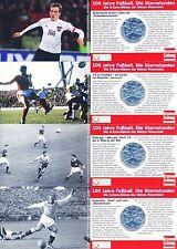 Österreich 5 Euro 2004 Silber 100 Jahre Fußball 4x Miniblister