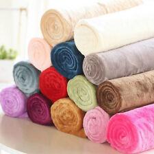New Hot Soft Warm Solid Warm Micro Plush Fleece Blanket Throw Rug Sofa Bedding S