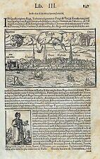 RIGA -Ansicht - Sebastian Münster um 1575 Original!!