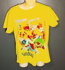 Boy's Clothes - Neon Yellow Graphic T-Shirt Size M (8) POKEMON