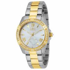 Invicta Women's Watch Angel Crystal Silver Tone Dial Two Tone Bracelet 21418