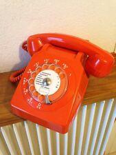 superbe  téléphone à rouleaux  vintage SOCOTEL S63  an  70's 80's   orange mar18