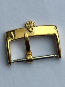 ROLEX 16mm Gold Vintage Stainless Steel Buckle Schließe Clasp For Strap Bracelet