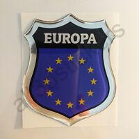 Pegatina Europa 3D Escudo Emblema Vinilo Adhesivo Resina Relieve Coche Moto