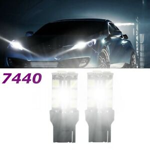 For Fiat 500L 2018-2020 7440 LED DRL Daytime Running Light 6000K White Bulb 2pcs